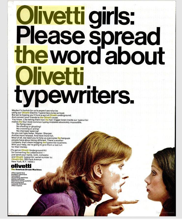 OlivettiGirlWord