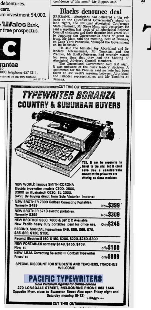 Typewriter Bonanza-SCM
