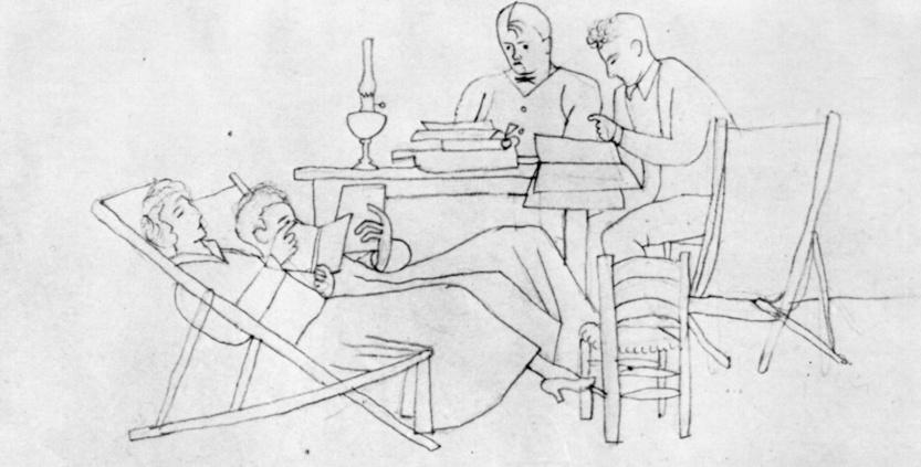 Jean Hugo-1923,-dessin au crayon